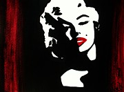 Marylin Paintings - Marylin Pop Art Portrait by Jessie Art
