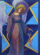 Mother Painting Originals - Marys Angels by Mary DuCharme
