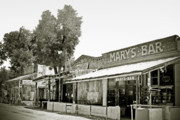Ghost Prints - Marys Bar Cerrillo NM Print by Christine Till