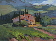 Wineries Paintings - Mas Des Soeurs by Diane McClary