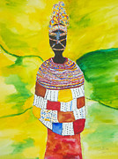 Hallmark Painting Metal Prints - Masai Bride Metal Print by Dimples Gibbs