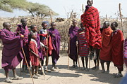 Masai Warriors Jumping Print by Scotts Scapes