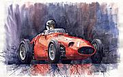 Historical Paintings - Maserati 250F by Yuriy  Shevchuk