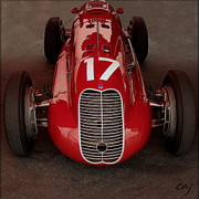 Indy Car Framed Prints - Maserati 4 CL 1939 Frontal Framed Print by Curt Johnson