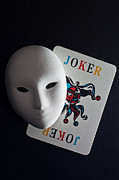 Mardi Pyrography Posters - Mask And Joker Poster by Kantapong Phatichowwat
