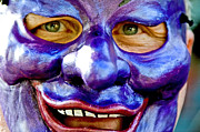 Custom Person Portrait Posters - Mask At New Orleans Mardi Gras Parade, New Orleans, Louisiana, United States Of America, North America Poster by Ray Laskowitz