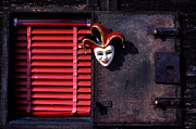 Old Wall Photo Prints - Mask by window Print by Garry Gay