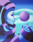Sphere Painting Prints - Mask in the Ether Print by Mark Webster