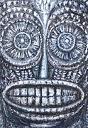 Primitive Raw Art Paintings - Mask of Ancient God by Kazuya Akimoto