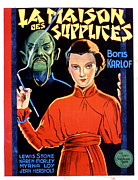 Seductress Posters - Mask Of Fu Manchu, Boris Karloff, Myrna Poster by Everett