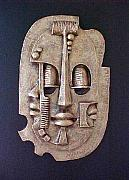 Faces Reliefs - Mask of Life by Chidi Okoye