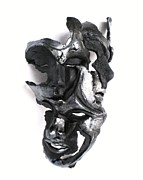 Wall Sculpture Prints - Mask of Three Print by Wayne Niemi