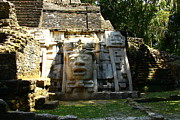Civilizations Originals - Mask Temple at Lamanai by Kathy McClure