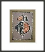 Featured Tapestries - Textiles Originals - Mask8 by Peter Otim Angole