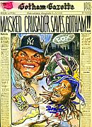 Yankees Drawings Originals - Masked Crusader by Robert  Myers