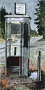 Puddle Prints - Mason-Dixon Phone Booth Print by Perry Woodfin