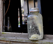 Canning Jar Framed Prints - Mason Jar Framed Print by Todd Hostetter