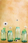 Buttercups Prints - Mason Jars Print by Stephanie Frey