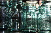 Ball Jars Prints - Mason Print by Meaghan Jacklitch