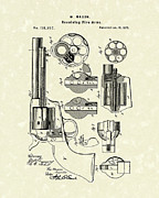 Weapon Drawings Posters - Mason Revolving Fire-Arm 1875 Patent Art Poster by Prior Art Design