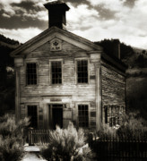 Bannack State Park Photos - Masonic Hall - Bannack Montana by Thomas Schoeller