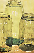 Water Jars Painting Metal Prints - Masons Metal Print by Michael Brothers