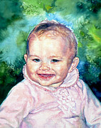 Portraits Paintings - Masons Sister Sarah by Hanne Lore Koehler