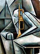 Music Painting Metal Prints - Masqualero Metal Print by Martel Chapman