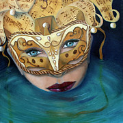 Andrew Wells Acrylic Prints - Masquemermaid Acrylic Print by Andrew Wells
