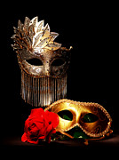 Floral Jewelry Metal Prints - Masquerade Metal Print by Gary Scott