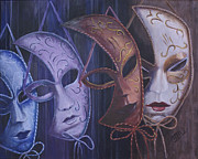 Mardi Gras Paintings - Masquerade by Michael Beckett