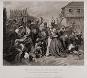 Massacre At Fort Minns. On August 30 Print by Everett