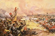 South Africa Painting Prints - Massacre at Ulundi Print by James Edwin McConnell