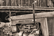 Ferguson Acrylic Prints - Massey Ferguson BW Acrylic Print by JC Findley