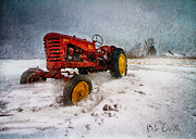 Snow Storm Art - Massey Harris Mustang by Bob Orsillo