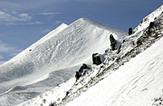Rangy Posters - Massif of Sancy in winter. Puy de Dome. Auvergne Poster by Bernard Jaubert