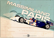 Evan DeCiren Art - Massimiliano Papis - Champ Car 1999 by Evan DeCiren