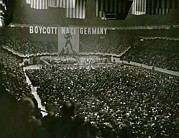 Anti German Prints - Massive Anti-nazis Demonstration Calls Print by Everett