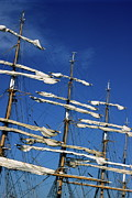 Tall Ships Prints - Mast of a Russian sailing ship Print by Sami Sarkis