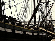 Wooden Ship Metal Prints - Master and Commander V2 Metal Print by Douglas Barnard