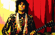 Rock Star Prints On Canvas Posters - Master Keith Poster by John Travisano
