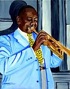 New Orleans Oil Painting Originals - Master Of Jazz by Michael Lee