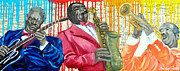 Legendary Musicians Painting Originals - Masters Of Jazz by Michael Lee
