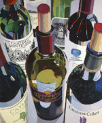 Wine Bottle Paintings - Masters of the Art by Christopher Mize