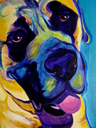 Performance Painting Originals - Mastiff - Lazy Sunday by Alicia VanNoy Call