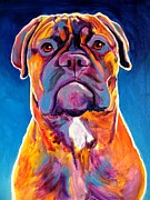 Dawgart Paintings - Mastiff - Lexi by Alicia VanNoy Call