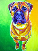 Dawgart Paintings - Mastiff - Maverick by Alicia VanNoy Call