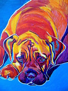 Dawgart Prints - Mastiff - Sahara Print by Alicia VanNoy Call