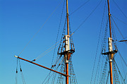 Tall Ships Prints - Masts of sailing ships Print by Sami Sarkis