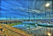 Photoshop Cs5 Metal Prints - Masts without Sails Metal Print by Dale Stillman